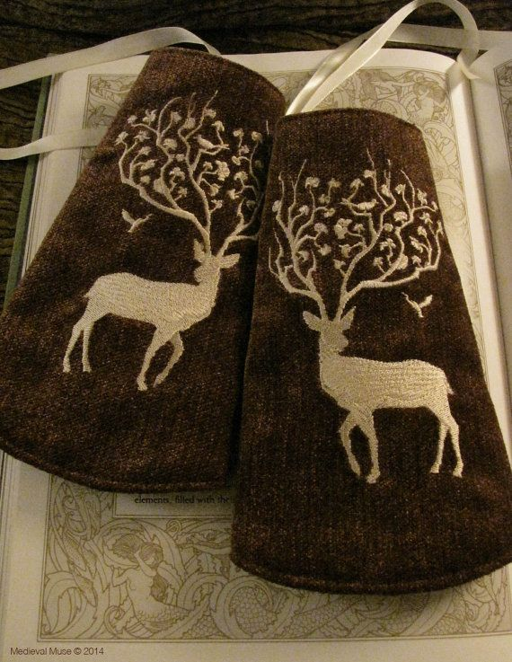 White Stag Wristlets by medievalmuse on Etsy, $51.00