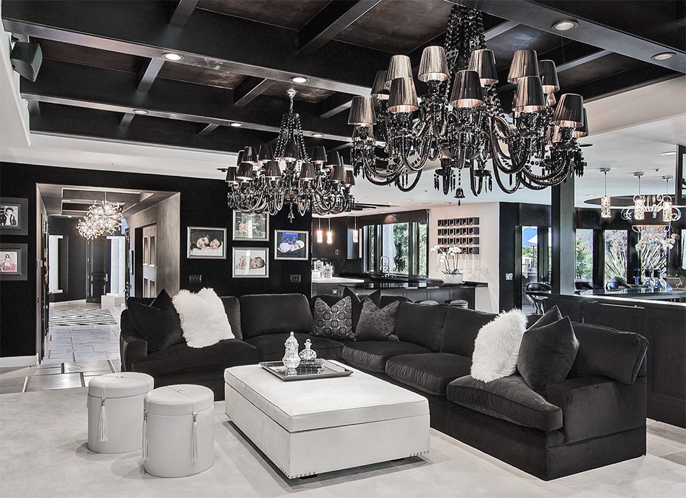 Beautiful Black And White Living Room Decor In Art Deco Style Beautiful Livng Farm House Living Room White Living Room Decor Black And White Living Room Decor