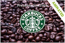 free starbucks powerpoint template. | business | pinterest | template, Modern powerpoint