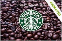 free starbucks powerpoint template business pinterest