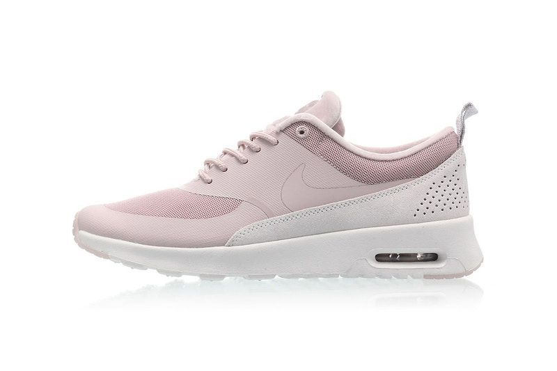 85d192aa50 ... uk nikes pastel pink air max thea is topped with a tiny velvet detail  9360a e6454