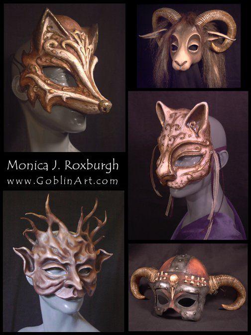 www.GoblinArt.com   Magnificent Masks & Quaint Curiosities  by Monica J. Roxburgh  Portland, OR