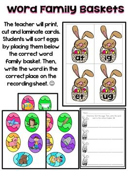 March Literacy Centers for Kindergarten! This unit includes SIX literacy centers focusing on SIGHT WORDS (2 centers), Beginning and Ending Sounds, Beginning Digraphs, Word Families, and Syllables. Each center has a recording sheet to check for understanding. $