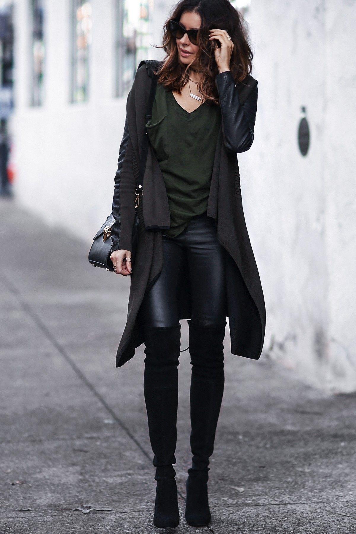 How to black wear draped pants new photo