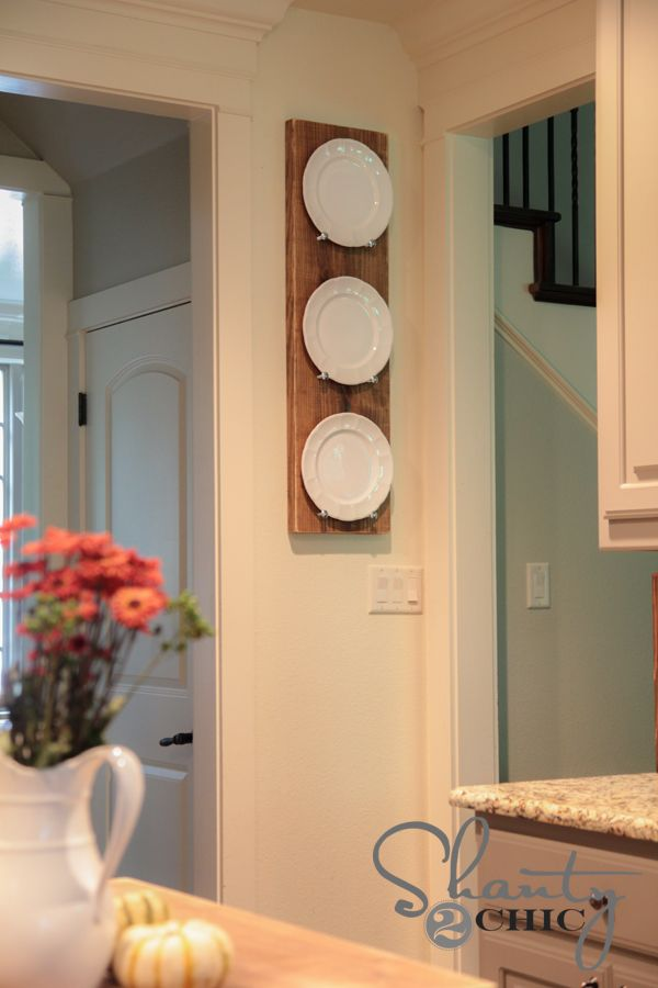 Top 10 Decorative DIY Projects for Your Kitchen | Plate racks ...