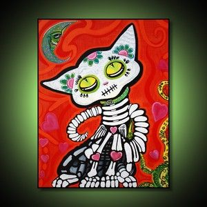 Gato De Los Muertos - Day of the Dead Cat