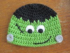 Halloween Hat Pattern – Frankie   A Chick w/ Sticks