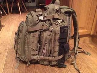 My Bug Out Bag 5 11 Rush 72 Moab 10 Dual System For