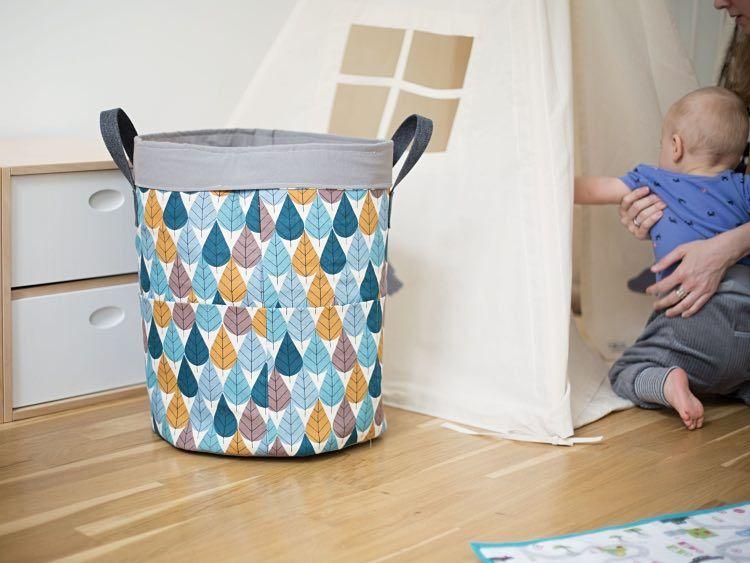 Kinderzimmer deko nähen  DIY-Anleitung: Großes Utensilo fürs Kinderzimmer nähen via DaWanda ...