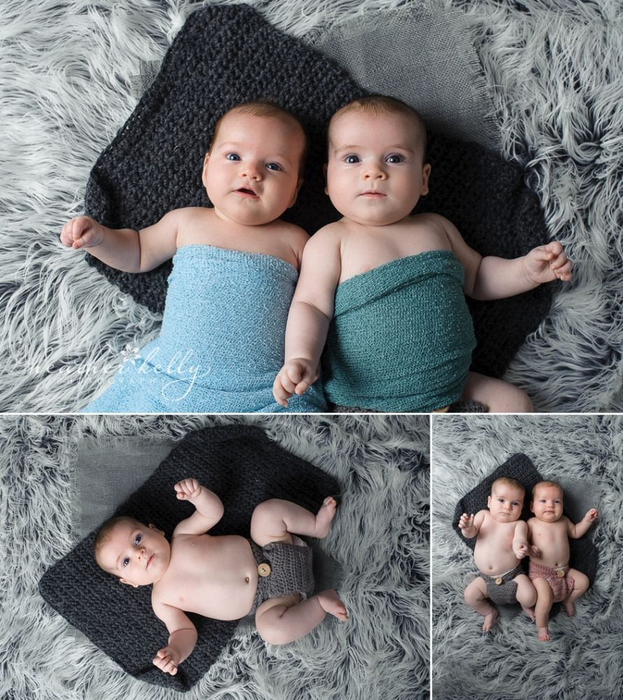 3 month old baby twins  www.heatherkellyphotography.com   CT baby twin photographer