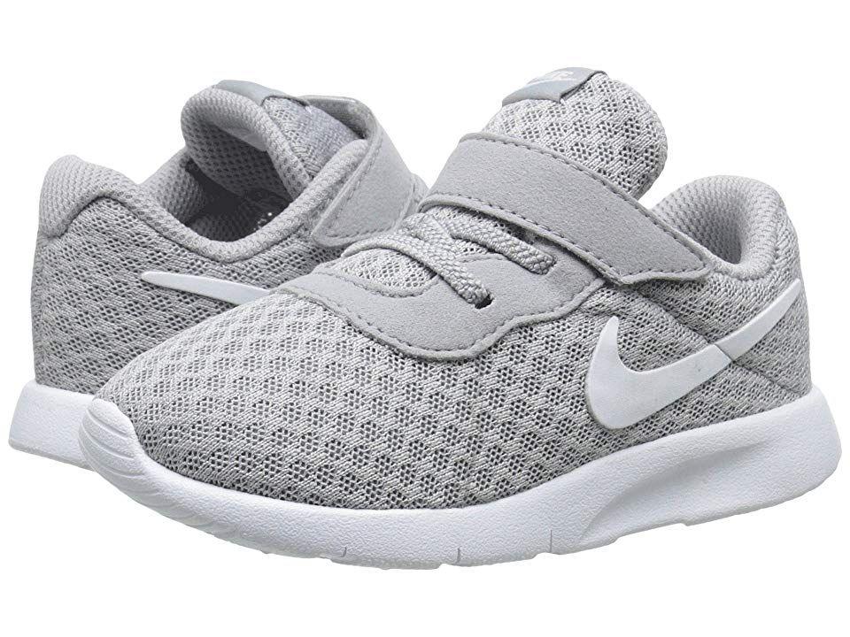 Nike Kids Tanjun (InfantToddler) Boys Shoes Wolf GreyWhite