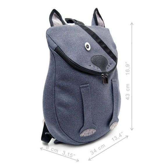 Cat oFey. Woollen animal like man's backpack. | Etsy