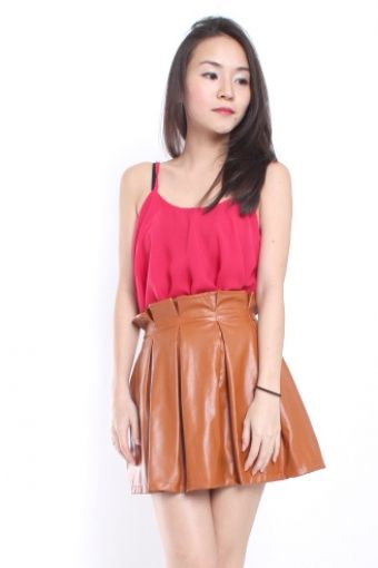 VALENCIA DRAPE TOP - RED | EATMYCHIC