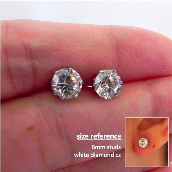 Promotion Mens Stud Earrings One Carat Diamond Earrings Cz Etsy Simple Stud Earrings Stud Earrings For Men Men Earrings
