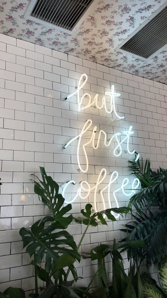 Confessions Of A Coffee Addict Check Out More Coffee Posts At Wallpapers Hint Iphone Wallpaper Tumblr Aesthetic Neon Wallpaper Aesthetic Iphone Wallpaper