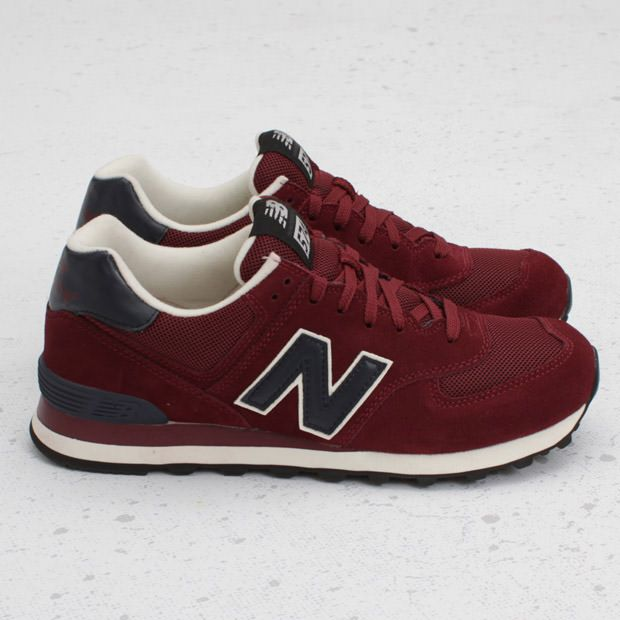 zapatillas new balance 574 granate