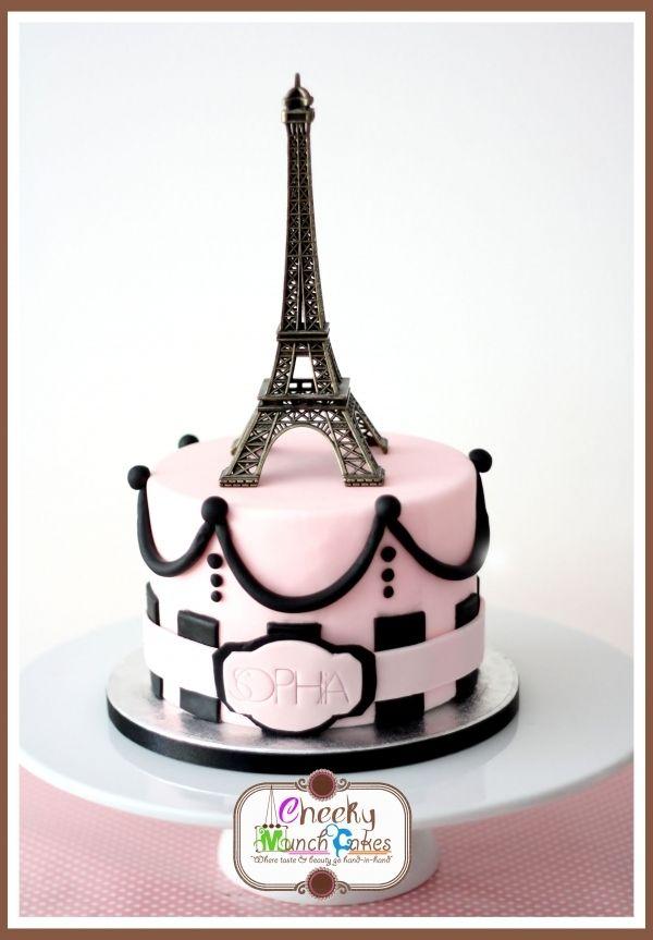 Paris inspired cake Beautiful cakes Pinterest Cake Paris