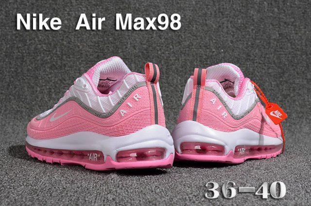 067d42b4d7a Nike Air Max 98 QS KPU Pink White women s Running Shoes in 2019 ...