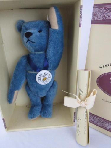 NRFB-Vintage-Ltd-Ed-Steiff-Club-TEDDY-BLUE-Teddy-Bear-COA-Tags-420047-SHIPPER