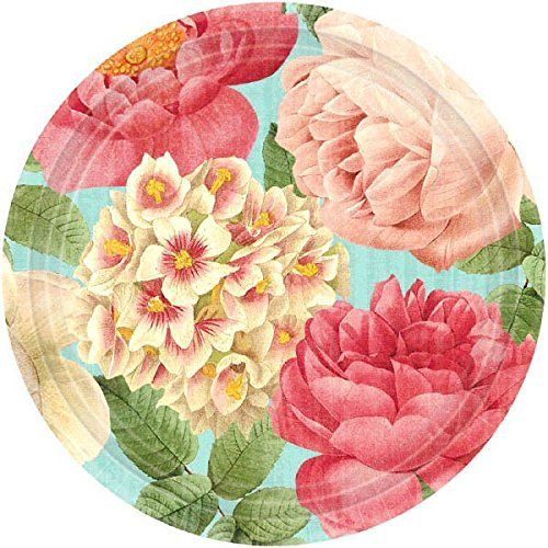 Amscan Disposable Round Paper Plate in Blissful Blooms Pr... //  sc 1 st  Pinterest & Amscan Disposable Round Paper Plate in Blissful Blooms Pr... http ...