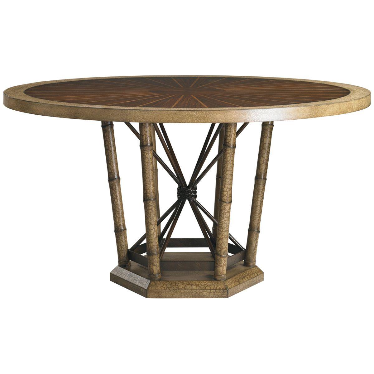lexington henry link trading co safari dining table 4011 425c