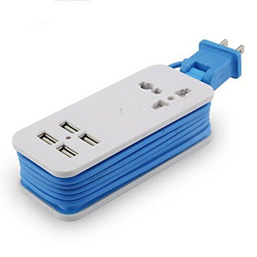 portable short usb power strip wall charger 5 5ft power on usb wall charger id=60962