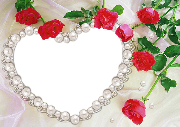 Pearl Heart and Roses Transparent Frame | - | Pinterest | Pearls