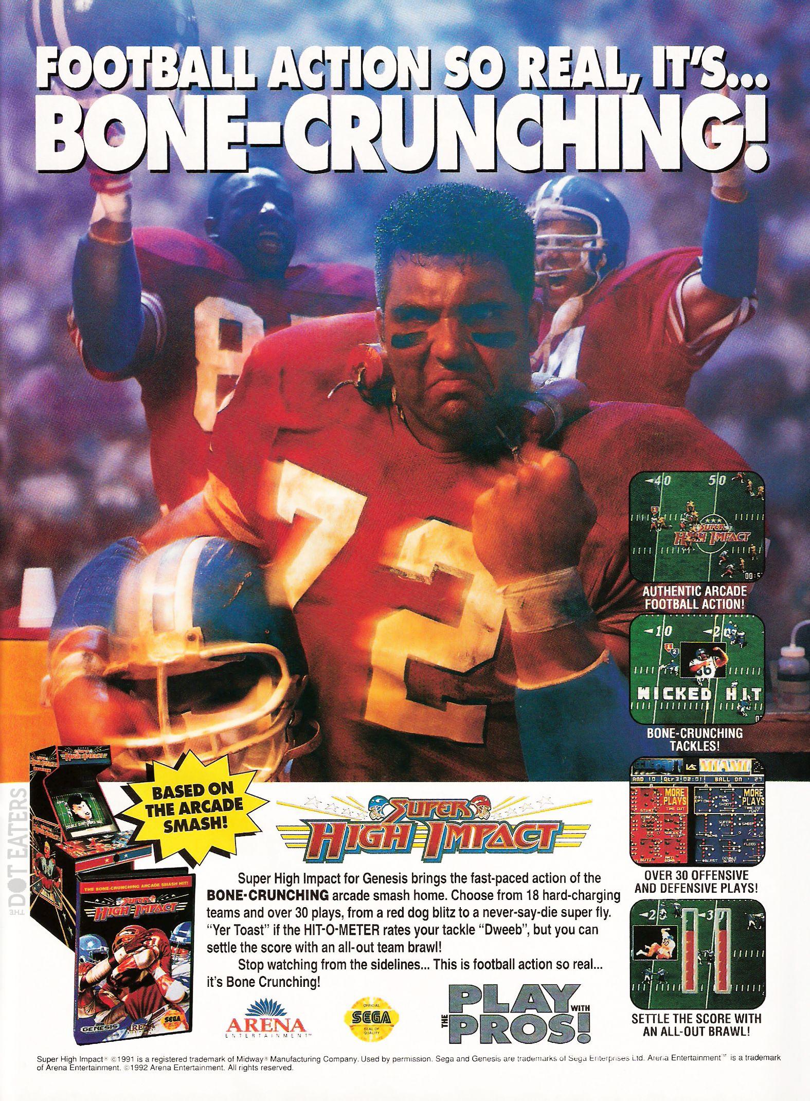 A bonecrunching arcade football game tackles the genesis