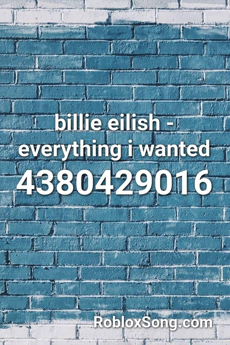 billie eilish everything i wanted roblox id