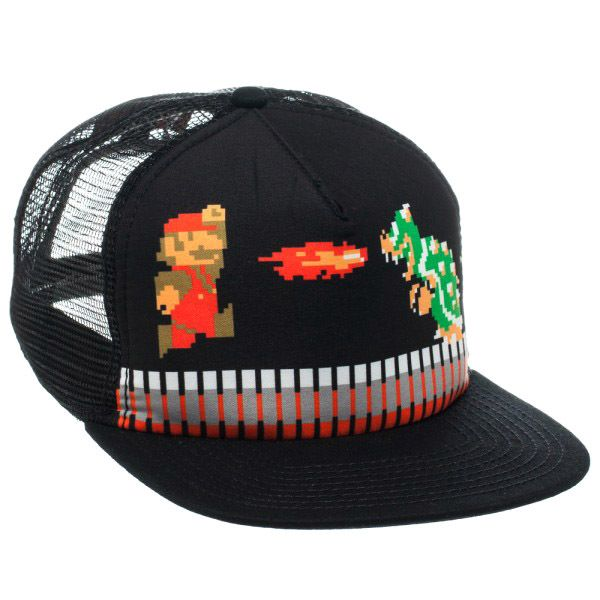 cdbd4f130eb Retro Pixelated Super Mario Bros. Trucker Cap