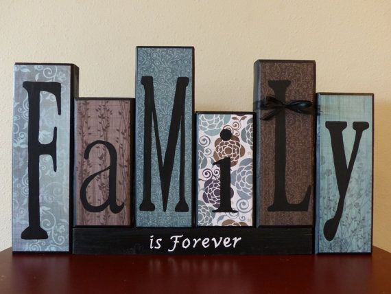 Family Letter Sign Home Decor Customized Gift Family Wood