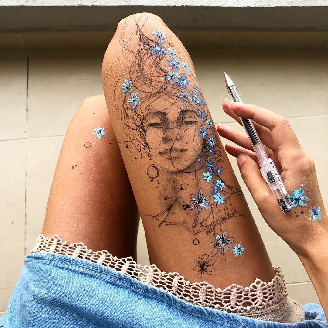 #bodyart #bodypaint #aesthetic #drawing #drawings #bodydrawing