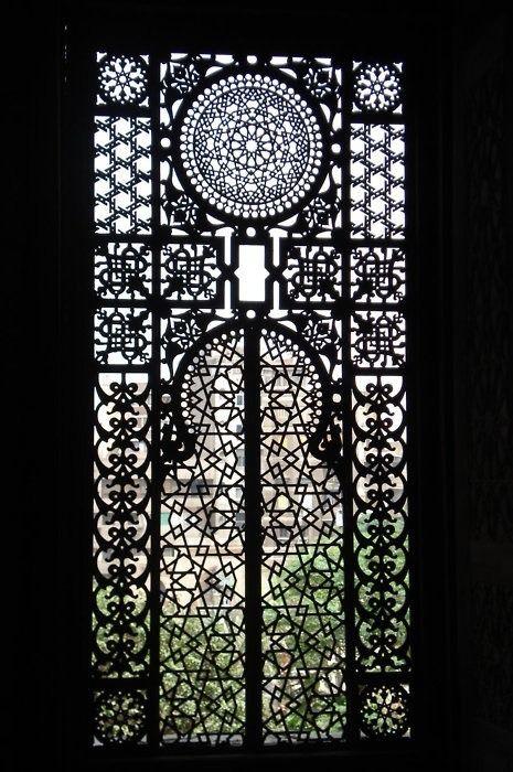 A window at Masjid ar-Rifa'i in Cairo.