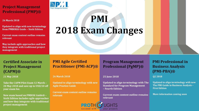 Pmi Project Management Institute 2018 Exam Changes Pmp Pmp