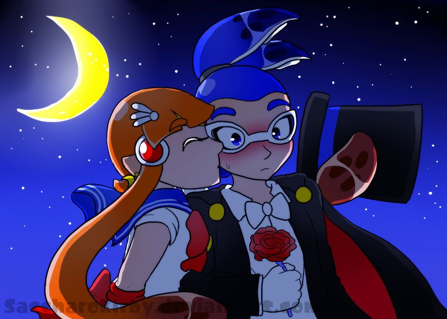 OTP Challenge - Day 7 - Moonlight Kiss by SaccharoKirby on DeviantArt