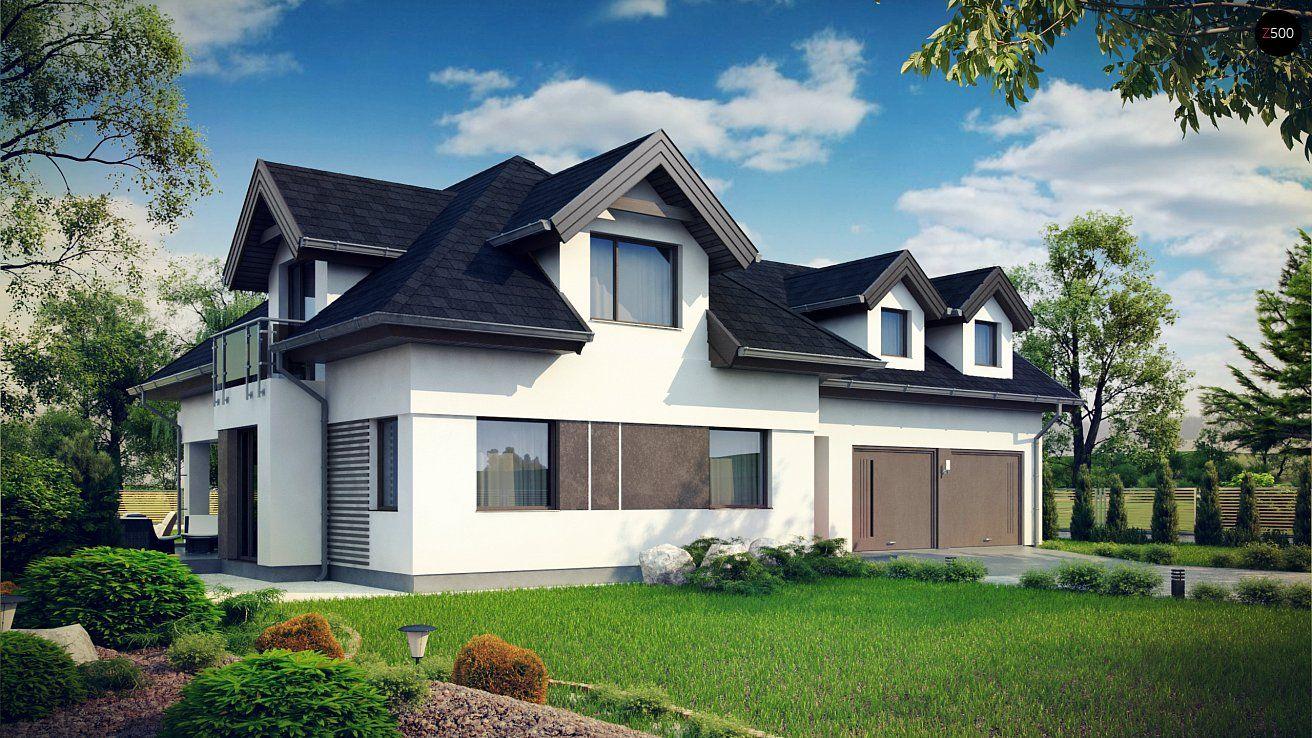 Комфортабельный дом с интересными мансардными окнами, с ...