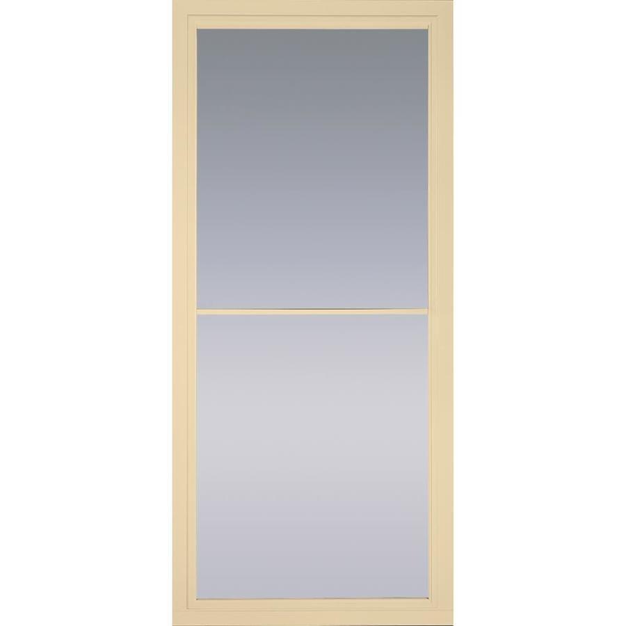 Pella Rolscreen Poplar White Full View Aluminum Storm Door With