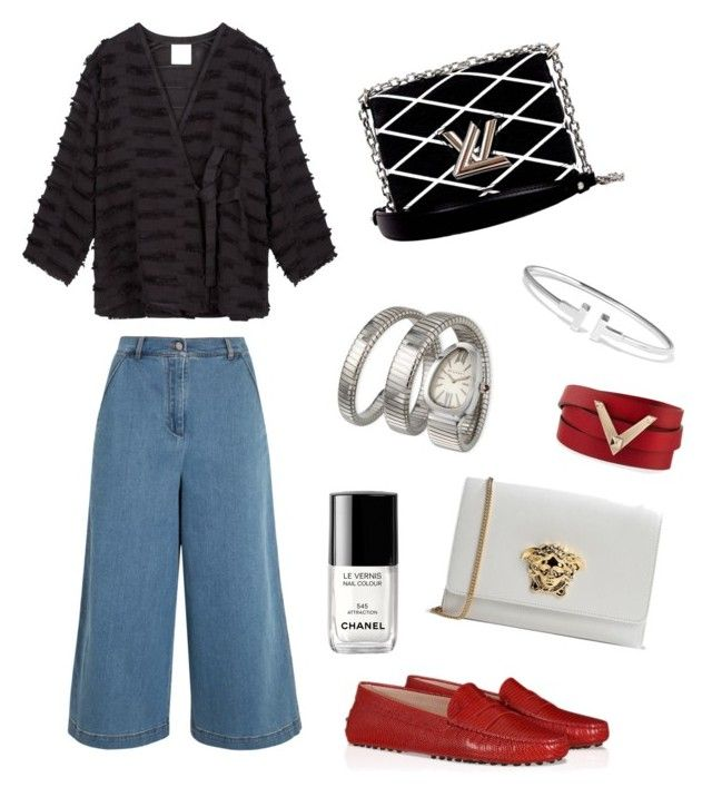 """""""jeans mode"""" by fatimah42 on Polyvore featuring Danielle Romeril, Fendi, Bulgari, Louis Vuitton, Versace, Tiffany & Co., Valentino and Chanel"""