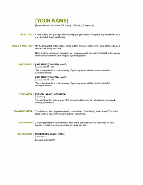 basic resume templates - Basic Resumes Templates