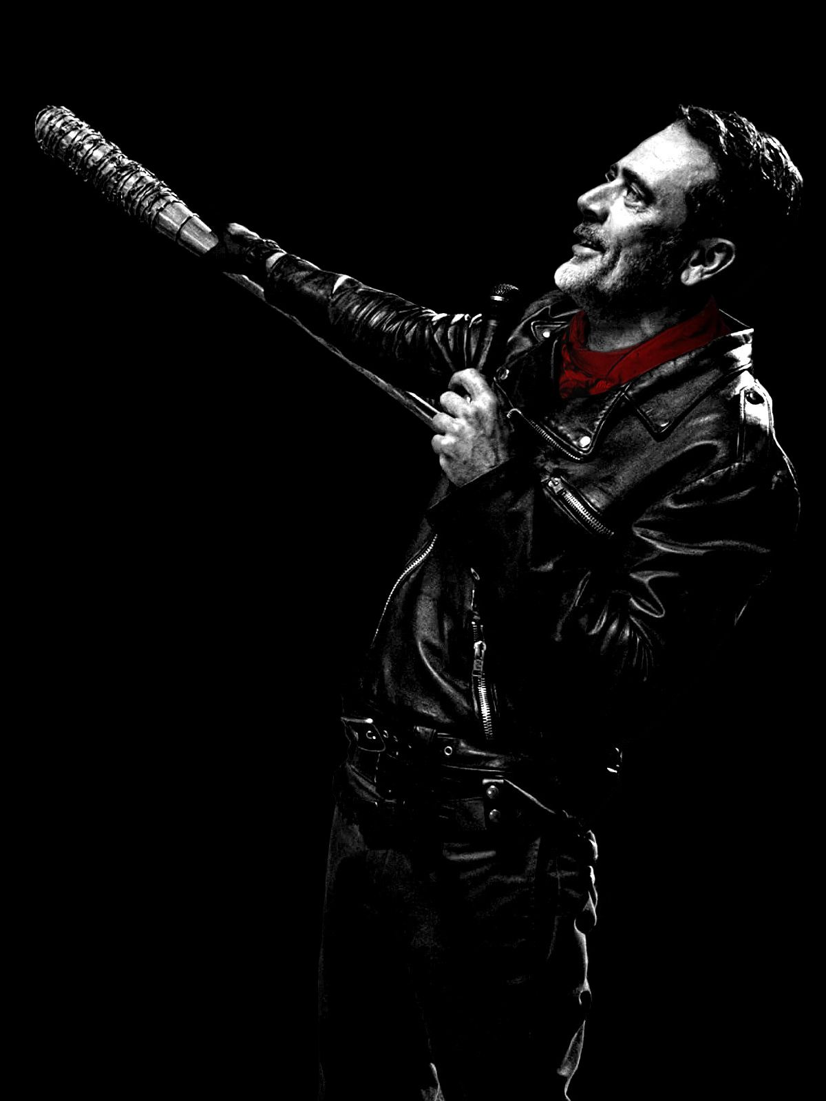 WALKING DEAD POSTER Negan Baseball Bat Fear Zombie Season Photo Poster A3 A4