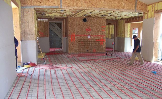 Radiant Heat Flooring House Projects And Tiny Houses Above Floor Plate Systems