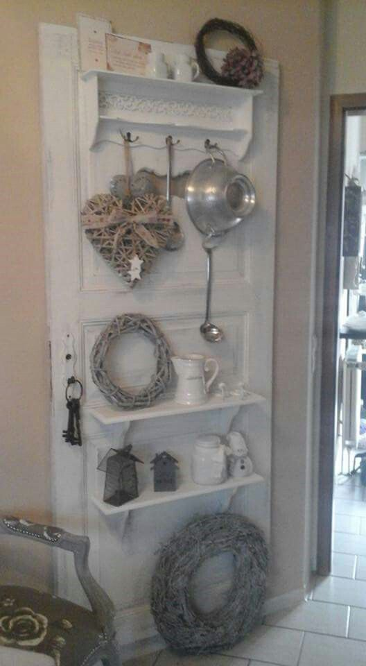 Great use of old door !!! saved by Antonella B.Rossi | Shabby chic ...