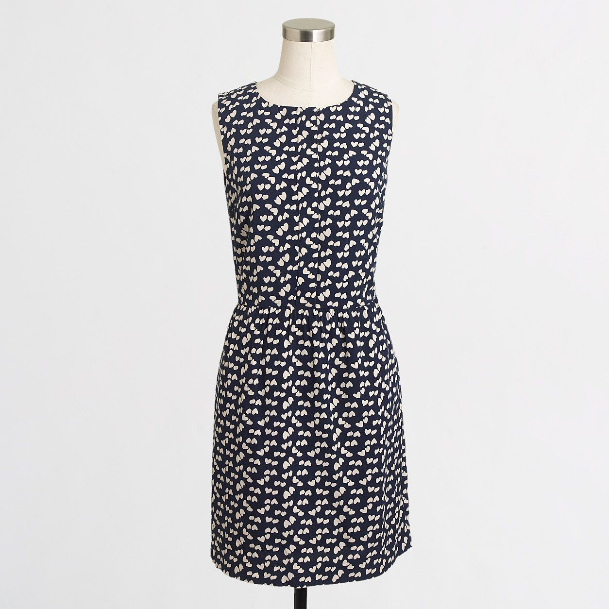 Factory scattered hearts dress : Waist-Defined Dresses   J.Crew Factory