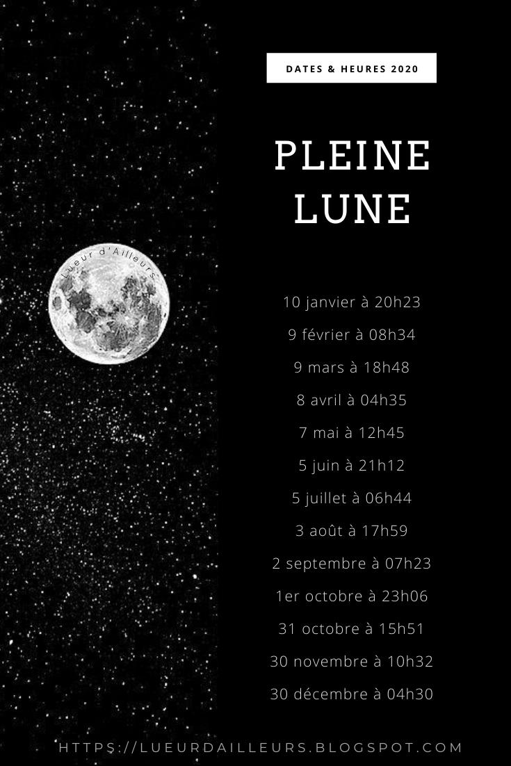 Pleine Lune Calendrier 2021 Objectifs 2020 en 2020 | Calendrier lunaire, Calendrier pleine