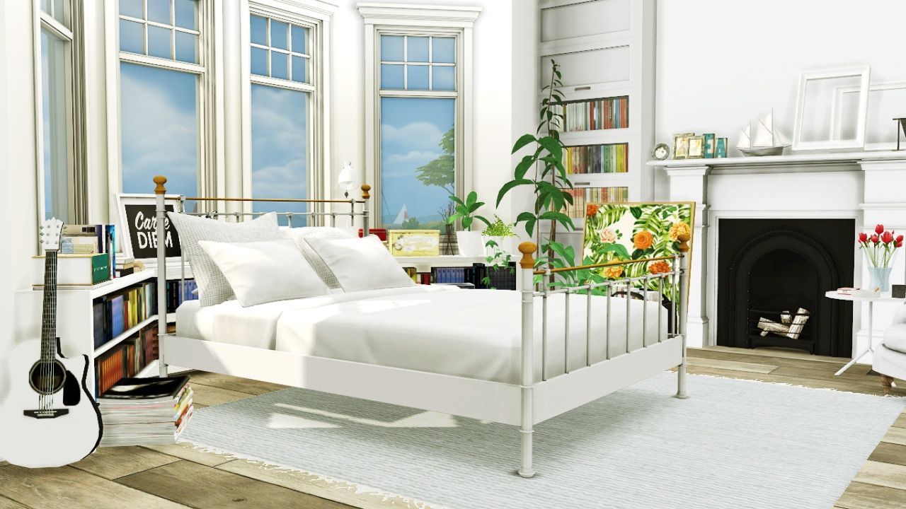MXIMS - Bed and Plants Conversion ( By Request ) Boho... | The Sims ...
