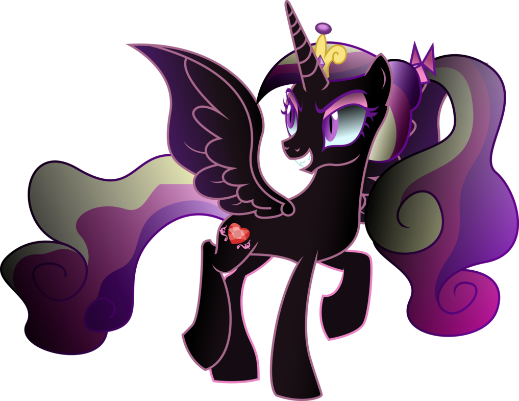 Princess Twivine Sparklealong With Onega Brony Went To The Crystal Empire And Used The Plunder Vines Dark Magic To Turn Princess Cadence Evil