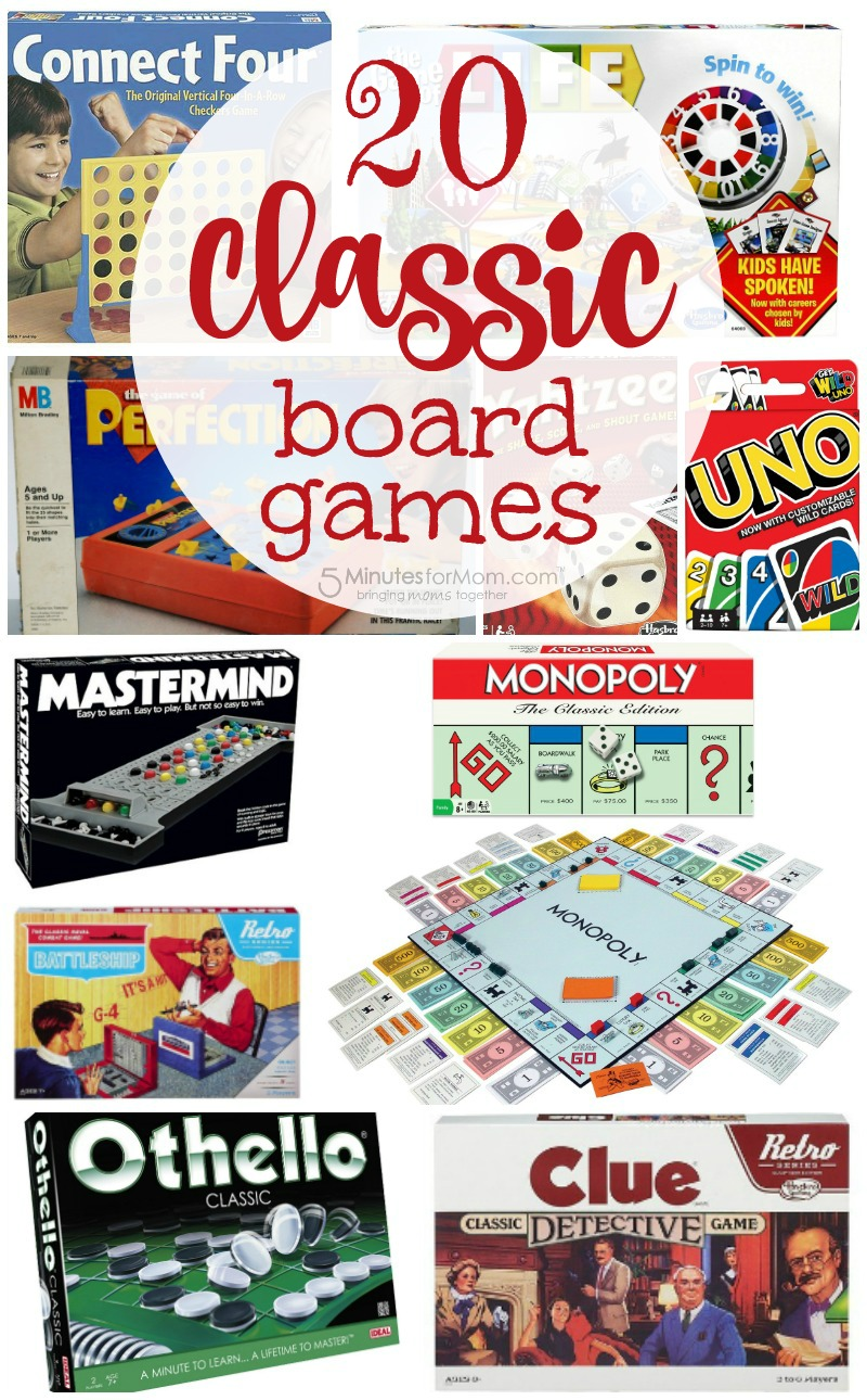 Top 20 Classic Family Board Games You Must Play With Your Kids 5 Minutes For Mom Top Board Games Family Board Games Best Family Board Games