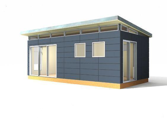 12\u0027 x 24\u0027 Modern-Shed Prefab Toolshed Small prefab houses