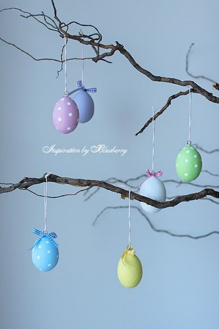 Gorgeous Easter Decorations made by Blueberry Jam available from their Shop http://www.blueberryjam.com.ua/