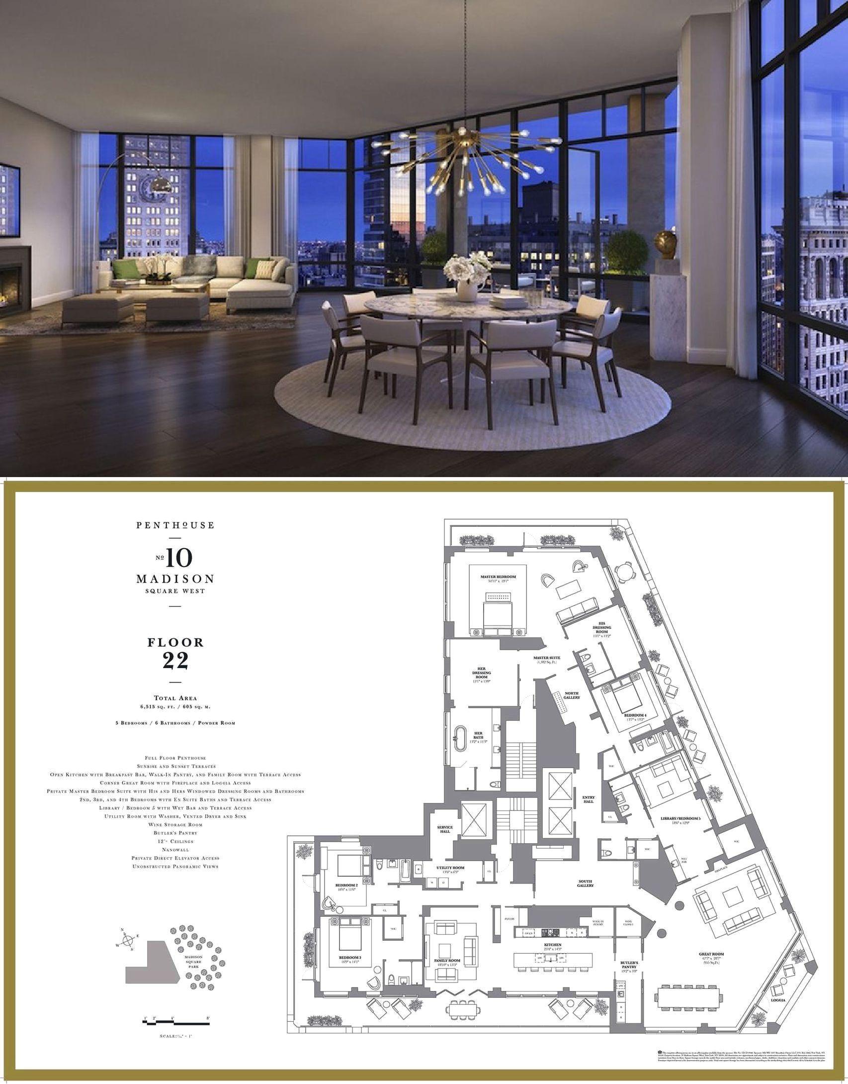 10 Madison Square West Phfl22 Flatiron District New York Architectural House Plans Apartment Floor Plans Vintage House Plans